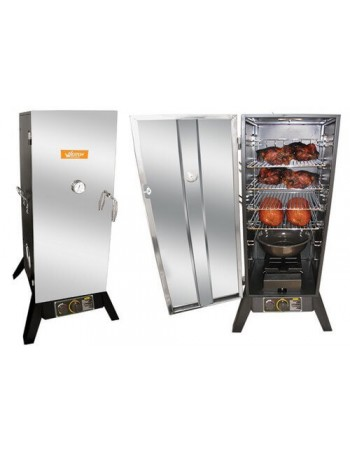 Gas Smoker - 36 in. Black Powder Coated