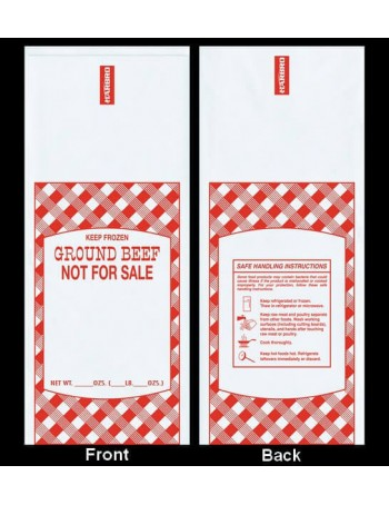Poly Meat Bag - Beef / 1000 Count - 1 lbs