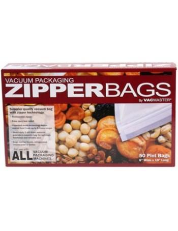 Vacuum Sealer Zipper Bags - 6 inch x 10 inch