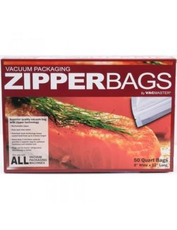 Vacuum Sealer Zipper Bags - 8 inch x 12 inch
