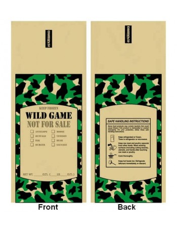 Poly Meat Storage Bag - Wild Game / 1 lbs